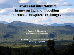 Some thoughts on errors and uncertainties in …