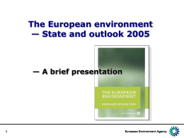 Europe's environment – State and outlook 2005