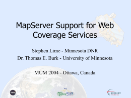 MapServer: Web Coverage Server