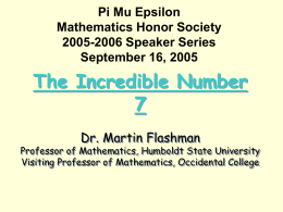 Pi Mu Epsilon Mathematics Honor Society 2004