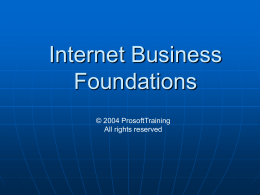 Internet Business Foundations