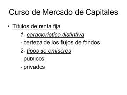 Curso de Mercado de Capitales