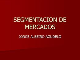 SEGMENTCION DE MERCADOS