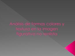 Analisis de formas colores y textura en la imagen
