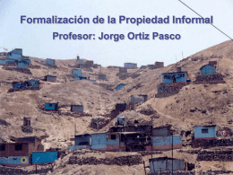 COMISION DE FORMALIZACION DE LA PROPIEDAD …