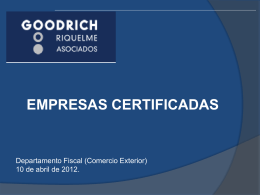 Diapositiva 1 - Goodrich, Riquelme y Asociados