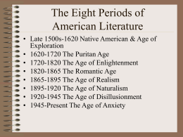 The Seven Periods of American Literature