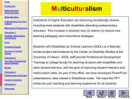 Multiculturalism - University of Hawaii