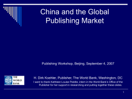 The English-Language Publishing Market