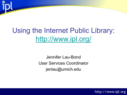 Using the Internet Public Library
