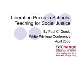 Multicultural Education as Equity and Social Justice