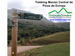 TREKKING AL MACIZO CENTRAL DE PICOS DE EUROPA