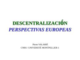 DESCENTRALIZACION y REFORMA del ESTADO