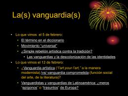 La(s) vanguardia(s)
