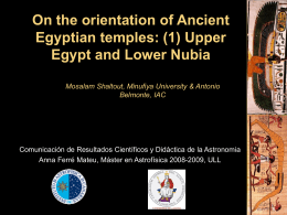 On the orientation of Ancient Egyptian temples: (1) Upper