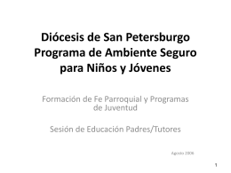 Diocese of St. Petersburg Safe Environment Program for