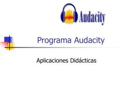 Programa Audacity