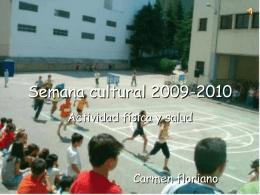 Semana cultural 2009-2010