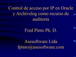 Seguridad IP en Oracle y Archivelog como herramienta de