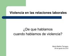 Violencia en las r - DataFactory