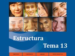 Estructura Tema 13