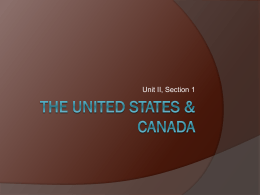 The United States & Canada