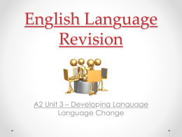 English Language RA2