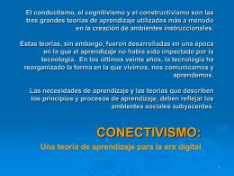 EL CONECTIVISMO PROVEE UNA MIRADA A LAS …