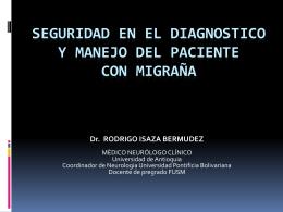 Seguridad en el diagnostico y manejo del paciente con …