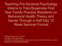 Teaching Pre-Doctoral Psychology Interns to Train