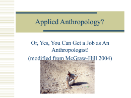 Applied Anthropology-