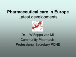 Presentation Oviedo - PHARMACEUTICAL CARE