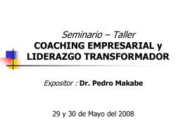 Seminario – Taller COACHING EMPRESARIAL y LIDERAZGO