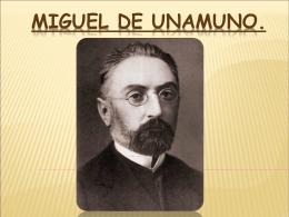Miguel de Unamuno.