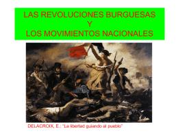 LAS REVOLUCIONES BURGUESAS Y LOS MOVIMIENTOS …