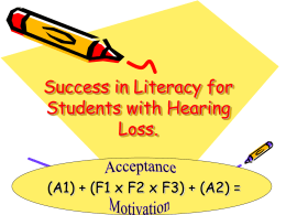 Success in Literacy for Children with Hearing Loss!!!