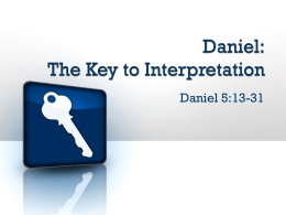 Daniel: The Key to Interpretation