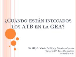 Tratamiento ATB en la GEA