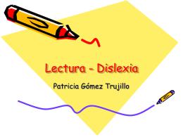 Lectura - dislexia