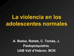 La violencia en los adolescentes normales.