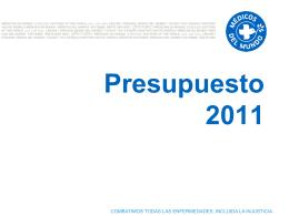 Presupuesto 2011