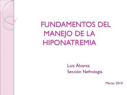 FUNDAMENTOS DEL MANEJO DE LA HIPONATREMIA