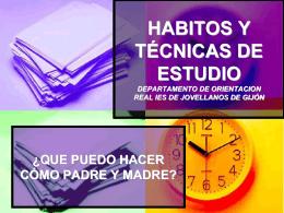 HABITOS Y TECNICAS DE ESTUDIO DEPARTAMENTO DE …