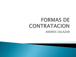 FORMAS DE CONTRATACION - Colegio Gimnasio del Norte