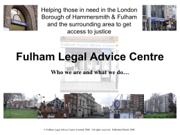Fulham Legal Advice Centre