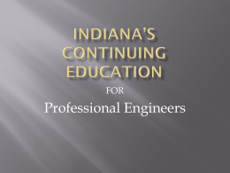 CONTINUING EDUCATION - Indiana Structural Engineers