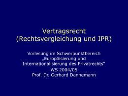 Vertragsrecht (Rechtsvergleichung und IPR)