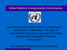 UNITED NATIONS COMPENSATION COMMISSION (UNCC)