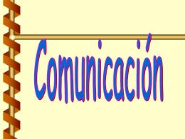 LA COMUNICACION