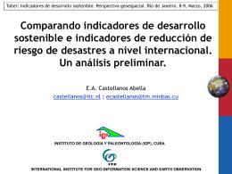 Comparando indicadores de desarrollo sostenible e
